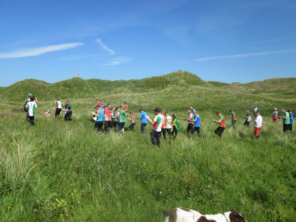 Mass start at a sunny Broughton Burrows, Gower